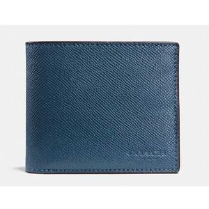 Coach Men's Compact ID Crossgrain Leather Wallet